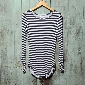 Bisou Bisou black and white striped top.